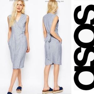 ASOS Natural Fiber Wrap Dress